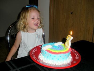 Megan is Three!